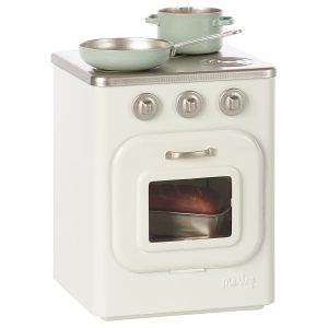 Maileg Metal Stove with Utensils - Toy Accessories