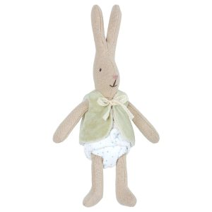 Maileg Micro Rabbit with west Toy Accessories