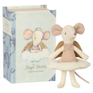 Toy Stuffed Animal Maileg Angel Mouse