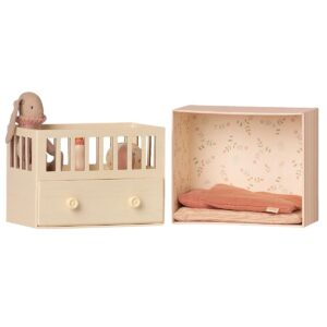 baby room with micro bunny toy rose look