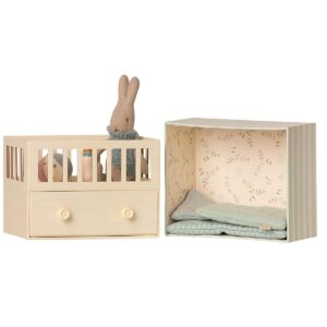 baby room with micro rabbit toy look