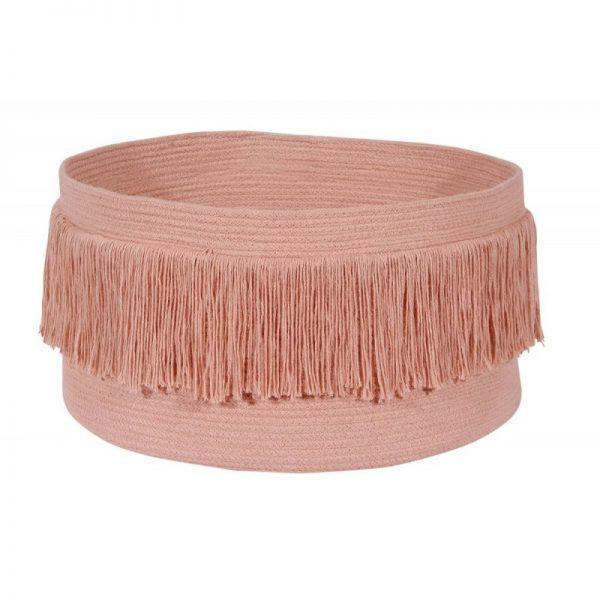 Storage Basket Fringes Nude