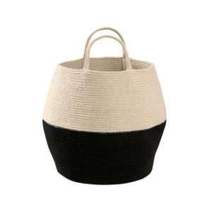 Storage Basket Zoco Black Natural