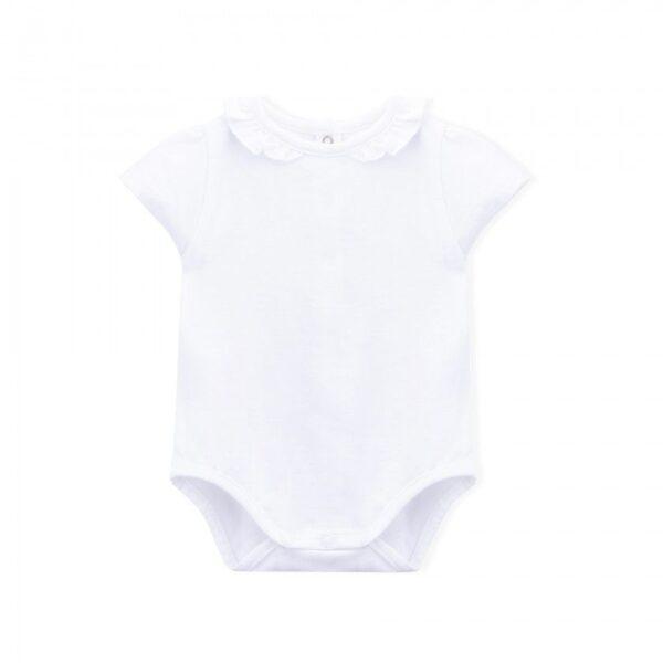 body newborn short sleeve pearl look
