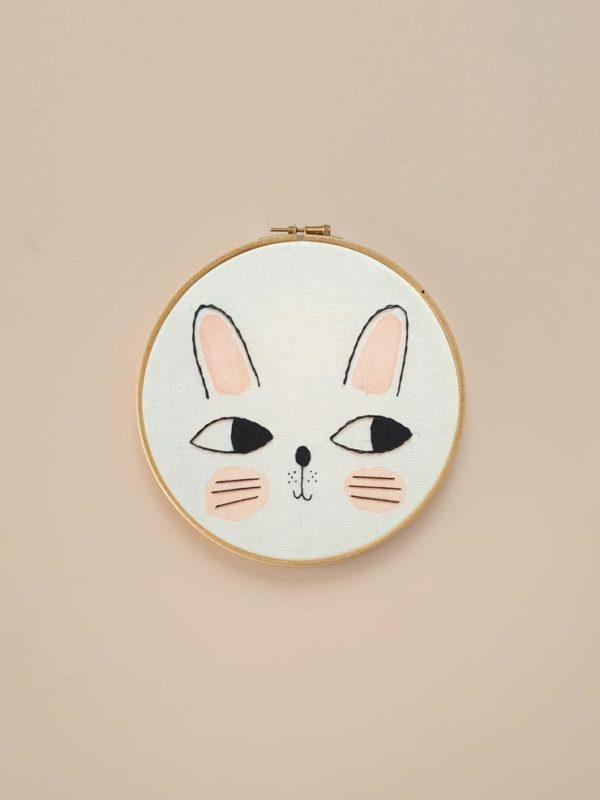 Kids Decor Bunny Embroidery Hoop