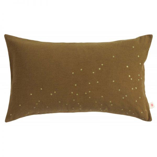 Cushion Cover Lina Tabac Gold Rain