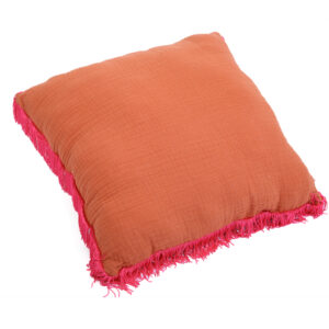Cerise Fringe Cushion