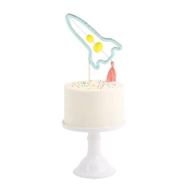 Party Decor Rocket Cake Topper