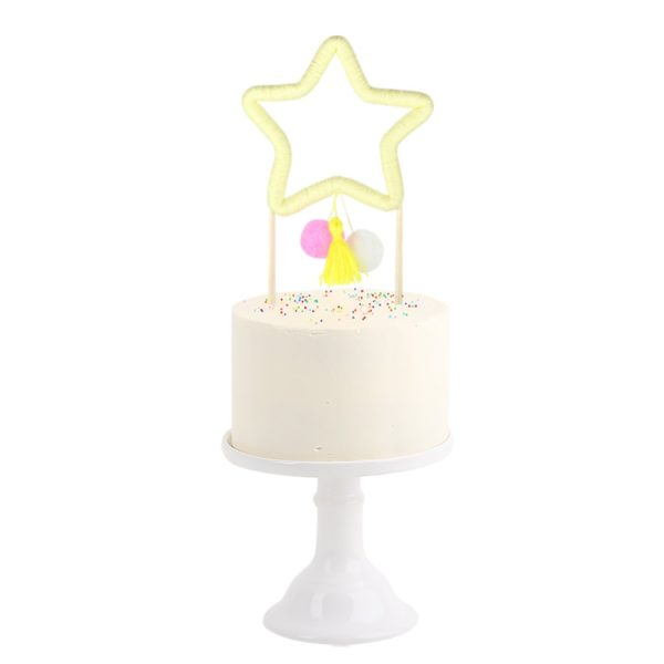Party Decor Star Cake Topper