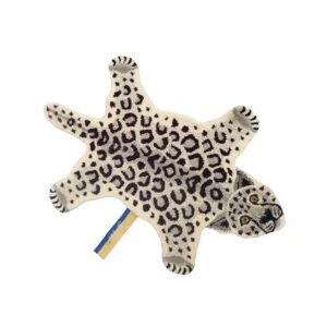 Snowy Leopard Animal Rug - Small
