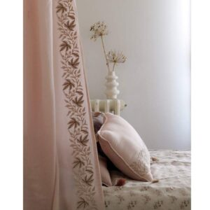 embroidered padded cushion ivy pink look1