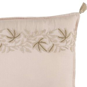 embroidered padded cushion ivy pink look6