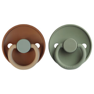 frigg natural rubber baby pacifier look