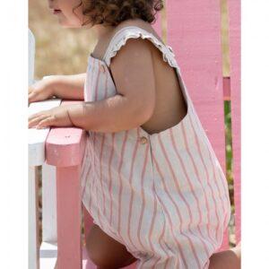 fluffy baby linen sun stripes