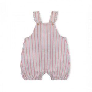 fluffy baby linen sun stripes look