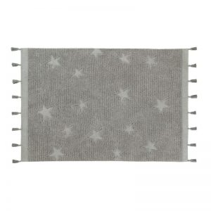 Kids Rug Hippy Stars Grey
