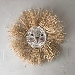 Ilayela Wall Decor Lion Crochet Pink