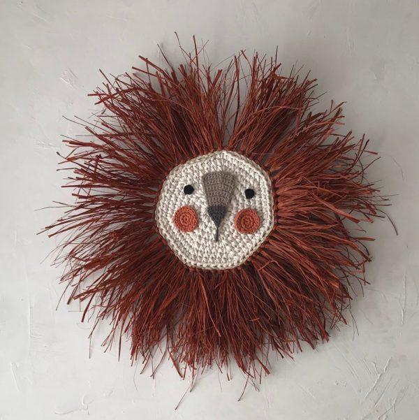 Wall Decor Lion Crochet for Children