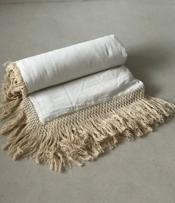 Duvet Cover Cotton Fringe