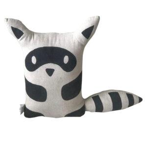 Animal Kids Cushion - Racoon