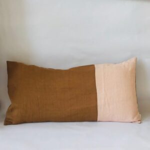 Ilayela Linen Pillowcase Tobacco Coral