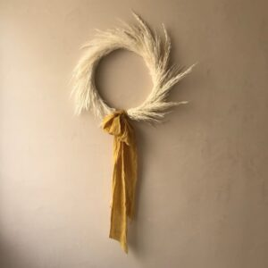 Ilayela Wall Decor Pampa Grass Crown - Lemon