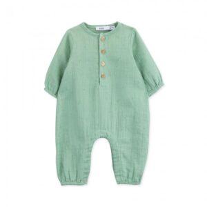 jumpsuit newborn organic cotton kiwi