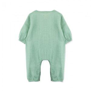 jumpsuit newborn organic cotton kiwi look1