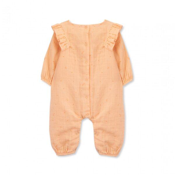 jumpsuit newborn organic cotton tomate look1