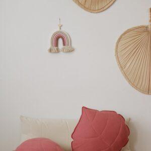 leaf cushion linen goji look1