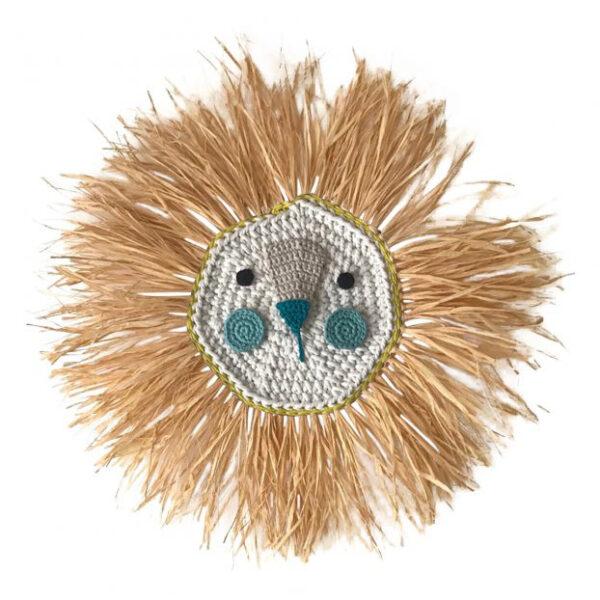 Ilayela Lion Crochet Wall Decor