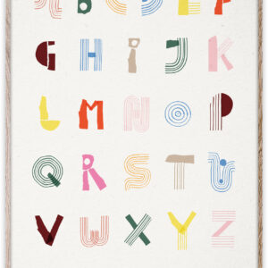 Kids Wall Decor Alphabet