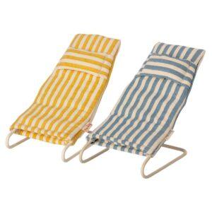 maileg beach mice chair set toy
