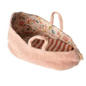 maileg carry cot toy misty rose my look
