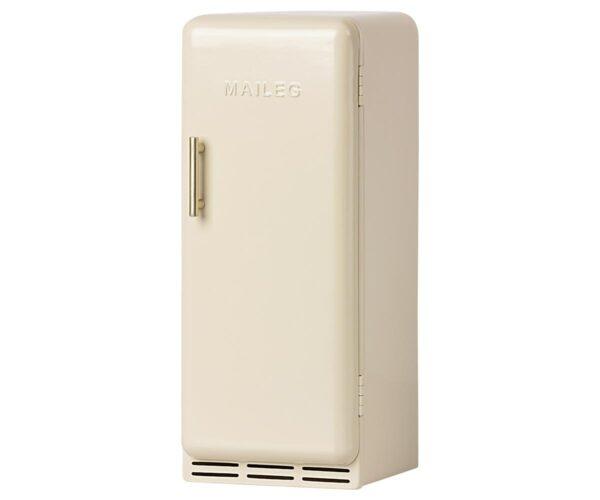 maileg miniature fridge toy off white