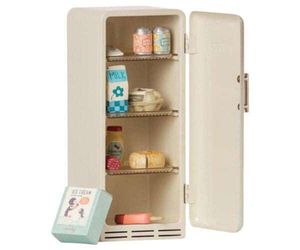 maileg miniature fridge toy off white look