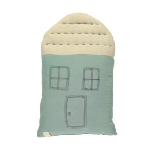 midi house cushion light teal and stone