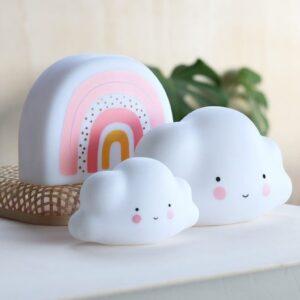 mini light cloud white look