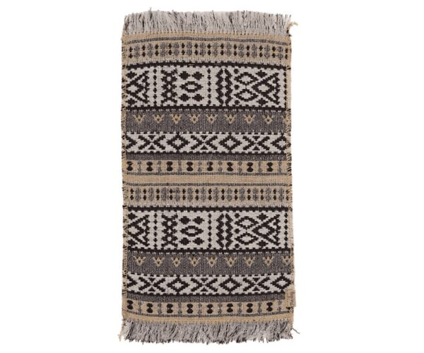 miniature rug toy woven pattern