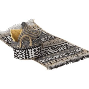 miniature rug toy woven pattern look