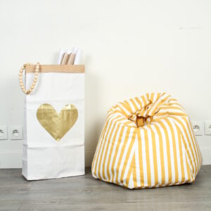 Paperbag Big Heart Gold MonPetit Zoreol