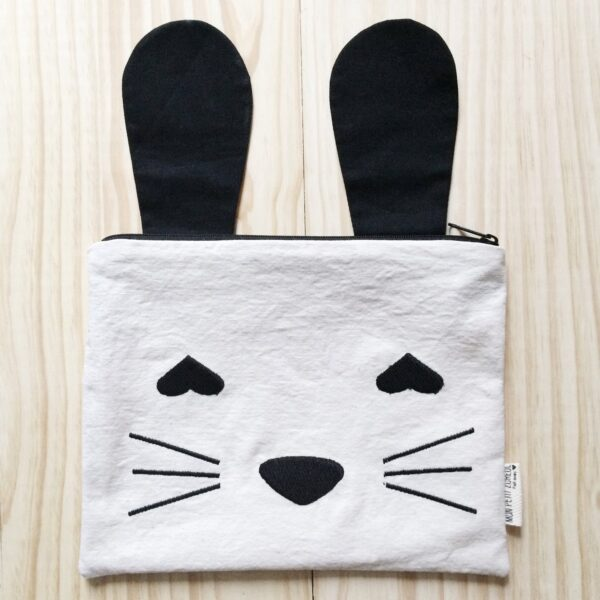 Embroidered Case Bunny with Black Ears MonPetit Zoreol