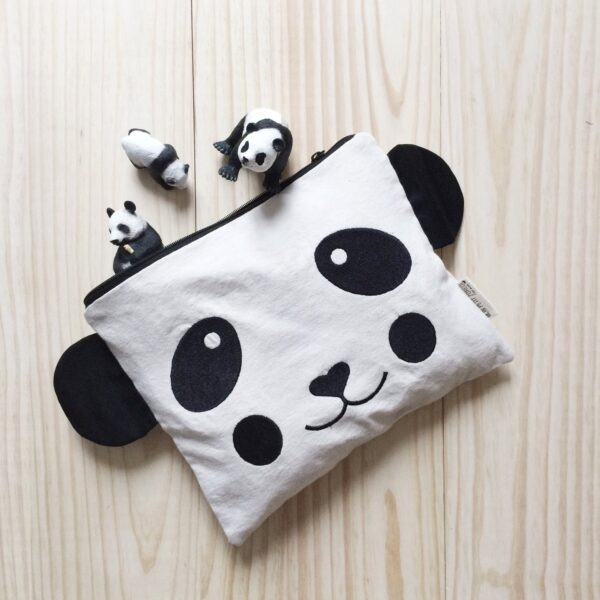 Embroidered Cases Panda with Black Cheeks MonPetit Zoreol