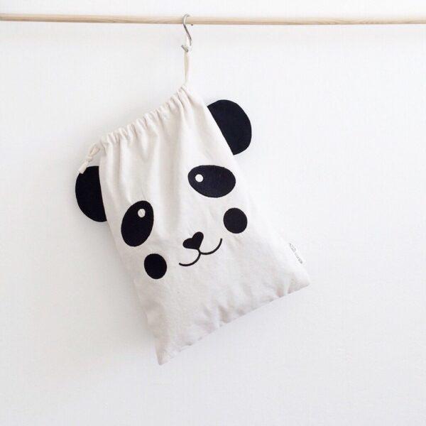 Embroidered Cotton Bag Panda MonPetit Zoreol