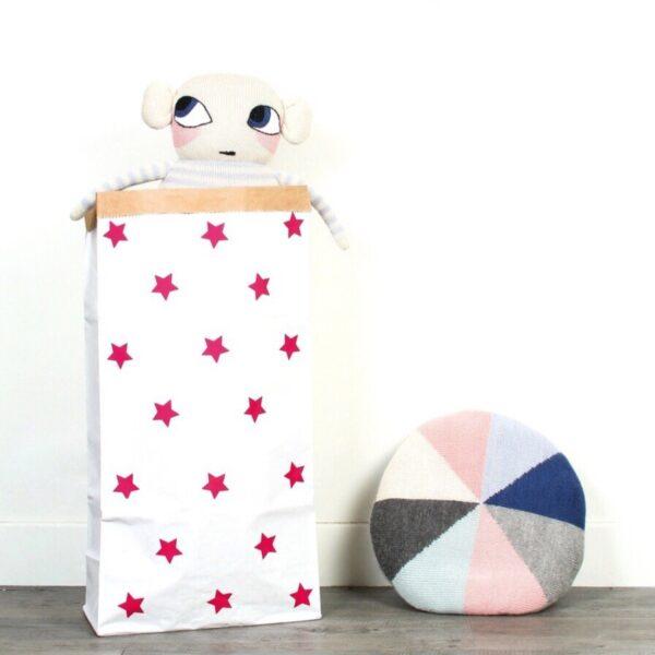 Paperbag Little Stars Pink MonPetit Zoreol