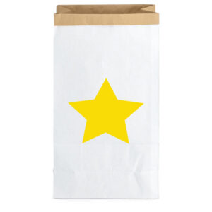 Paperbag Big Star Yellow MonPetit Zoreol