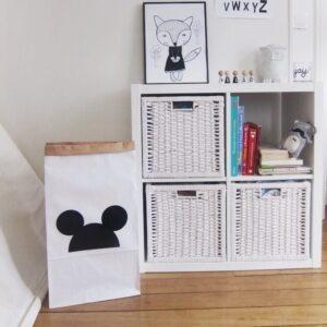 Paperbag Mickey House Black MonPetit Zoreol