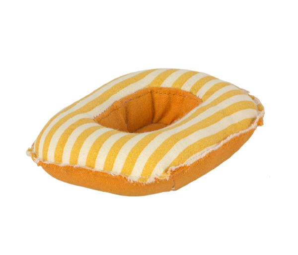 mouse rubber boat toy yellow stripe1