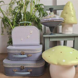 mushroom lamp olive small look