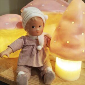 mushroom lamp vintage pink small look